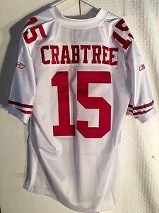 Reebok Authentic NFL Jersey San Francisco 49ers Michael Crabtree White sz 54
