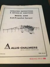 Original ALLIS-CHALMERS Chisel Plows wing type TPL-508 A Manual  AC