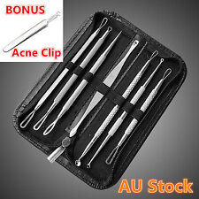 7Pcs Set Blackhead Remover Acne Blemish Comedone Pimple Extractor Tool Set Face