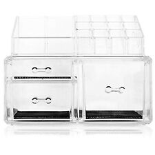 Clear Cosmetic Makeup Jewelry Organizer Holder Acrylic Vanity Tools Storage Box