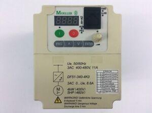 Moeller Frequenzumrichter DF51 340 4K0 Out 3AC Motor 4kW l 5HP 11A