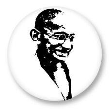 Pin Button Badge Ø38mm Gandhi Bapu Mahatma Paix Peace Inde