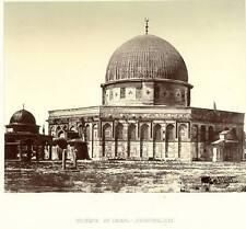Palestine, Tancrede Dumas, Mosque of Omar. c 1873. Israel. Excellent albumen !