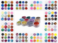 12pc Cosmetic Glitter Pot Set Body Face Eye Tattoo Nail Art Festival Dance Craft