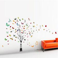 Riesig Baum Schmetterlings Foto Kind Wand WandTattoo Kinder Abziehbild niedlich