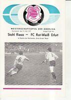 OL 76/77  BSG Stahl Riesa - FC Rot-Weiß Erfurt