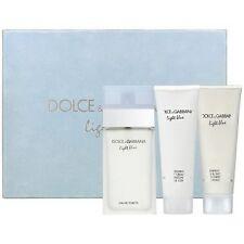 LIGHT BLUE by Dolce & Gabbana 3 PCS GIFT SET Women 3.3 oz / 100 ml EDT SPRAY NIB