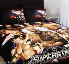 WWE Superstars Duvet | Doona Quilt Cover Set | The Rock | John Cena | King