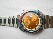 USED VTG 1970's SEIKO PEPSI 6139-6002 AUTOMATIC CHRONOGRAPH GENTS WRISTWATCH