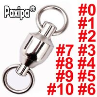 10x Heavy Duty Ball Bearing Fishing Trolling Barrel Swivels Solid Ring Connector