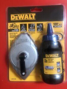 dewalt   dwht47309 cast aluminum chalk line reel (30m) with blue chalk