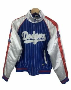 La Dodgers Retro Cooperstown Collection By Carl Banks Small Satin Bomber Jacket