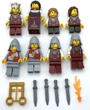 Lego 8 New Castle Lion Knight Minifigures Kingdoms People King Queen Kids More