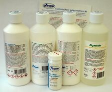 Swimming pool water treatment kit chemical starter for above ground pools
