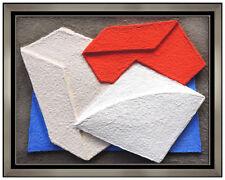 Charles Hinman Original Wall Relief Sculpture Hand Signed Modern Abstract Art
