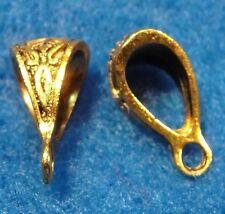 10Pcs. Tibetan Antique Gold BAILS Pendant or Charm Connector BAILS BA105