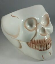 "ROYAL NORFOLK ""SKULL"" CERAMIC CANDY DISH VG COND 6.5""X 4.5""X 3"" DEEP HALLOWEEN"