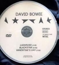 David Bowie DVD single 3 music videos: Lazarus Blackstar Valentine's Day [Not CD