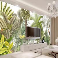 Mural Wallpaper Textile Non Woven Rainforest Pattern Wood Fiber Waterproof Decor