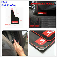 1 Pair Black Soft Rubber Car Mud Flaps Mudguards Fender + Screws Accessories
