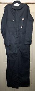 Vintage Big Mac Coveralls Mens Sz 38L Blue Gray LS Zip Up Mechanic Workwear New