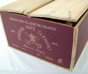 12x CHATEAU Pape Clement Magrez GCC de Graves 2012 red wine Rotwein OHK wood box