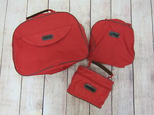 Catherine Kelly Collection 3-Piece Travel Organizer Bag Set One Size Red  New