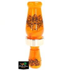 New Rnt Rich-N-Tone Daisy Cutter Single Reed Duck Call Burndown Orange Acrylic