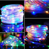 39FT Solar Rope Waterproof Tube Lights LED String Strip Outdoor Garden Pathway