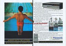 Panasonic G12 Video Recorder 1988 Magazine 2 Page Advert #3944