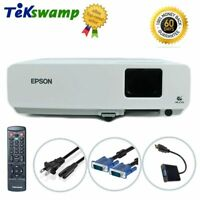 Epson PowerLite 83+ LCD Projector Refurbished 2200 ANSI HD 1080i HDMI w/Adapter
