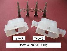 B2 Original ICOM Molex LDG Heavy Duty 4-Pin Tuner Plug Automatic Antenna ATU AT