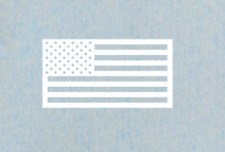 "American Flag Vinyl Decal 2"" x 4"""