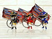 3 DX SENTAI GOSEIGER RED BLACK BLUE 2 INCHES FIGURE KEYCHAIN KEY RING BANPRESTO