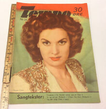 "MAUREEN O'HARA on the Front Cover Original Vintage Danish Magazine ""Tempo"" 1950."