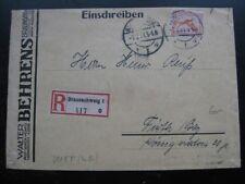 DEUTSCHES REICH scarce 1927 registered cover w/ single franking!