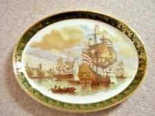 Weatherby Royal Falcon ware large porcelain oval plate-dish