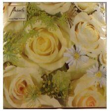 TOVAGLIOLI O 3 VELI CARTA , matrimonio Disegno Rose (20) 15.2cmx15.2cm