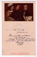 Menù Navigazione Generale Italiana. Florio - Rubattino 1909. (Il concerto)