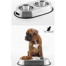 Comedero-Bebedero antideslizante para Mascotas (Perros-Gatos-Conejos),acero inox