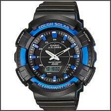 Casio AD-S800WH-2A2 Mens Blue 200M WR Tough Solar Watch 5 ALARMS Chronograph New