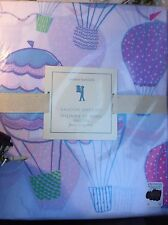 3pc Pottery Barn Kids Hot BALLOON Cotton Sheet Set TWIN NWT Lavender Girl