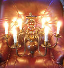 F. Fabbian 1970s Chandelier. Lovely Condition. Tested and Working.