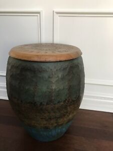 New Pier One Imports Round Accent Table Side Coffee Table Wood / Metal $249