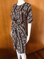 Country Road-Animal Print-Twist Bodycon Dress-Size M