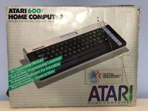 Atari 600XL Home Computer with Power Supply and Original Box