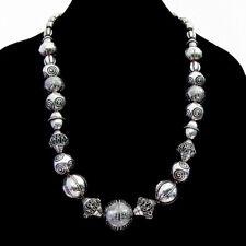 Kalevala Koru Ornate Bead Halikko Necklace Sterling Silver 1973 Finland