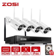ZOSI 4CH 960P HD WLAN FUNK Video Überwachungskamera Set CCTV Kamera System 1TB