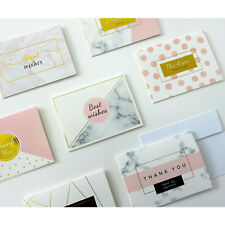 X6 Thank You Cards with Matching Envelopes Marble 9 Styles