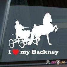 I Love my Hakney Sticker Die Cut Vinyl Ver 2 Carriage Horse